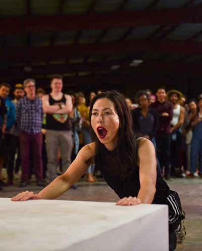 Image: Angela Goh in Body Loss, presented by Performance Space and Fusebox at Fusebox Festival 2019